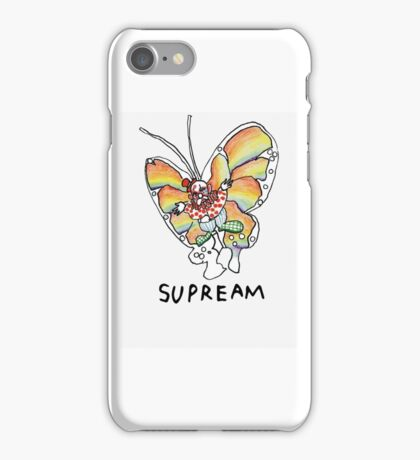 Supreme 'SUPREAM' Butterfly - White/Red/Blue/Grey/Beige iPhone Case/Skin