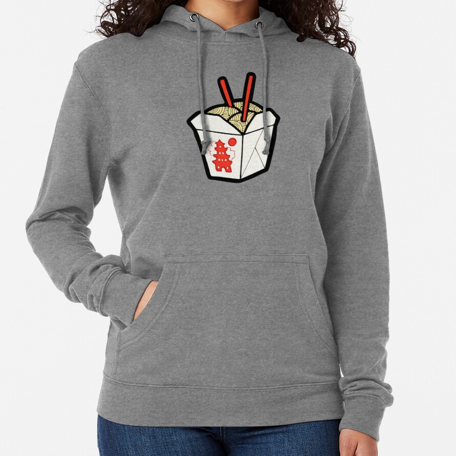 Take-Out Noodles Box Pattern Lightweight Hoodie