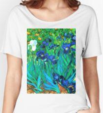 Van Gogh Garden Irises HDR Women's Relaxed Fit T-Shirt