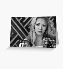 HyoYeon SNSD Girls' Generation KPOP Greeting Card