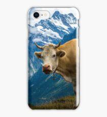 Grindelwald Cow - Bernese Alps - Switzerland iPhone Case/Skin