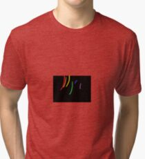 Oil-Brush Pride LGBTQ Tri-blend T-Shirt