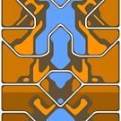 Orange Organic Grid Design by MonkeyKnot