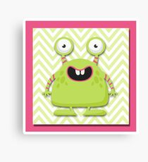 Cute Silly Monster Thing Canvas Print