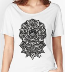 Eye of God Flower Mandala Relaxed Fit T-Shirt