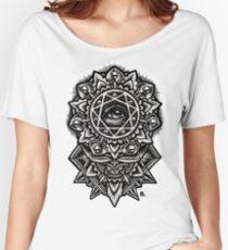 Auge Gottes Blume Mandala Loose Fit T-Shirt