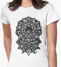 Eye of God Flower Mandala Womens Fitted T-Shirt