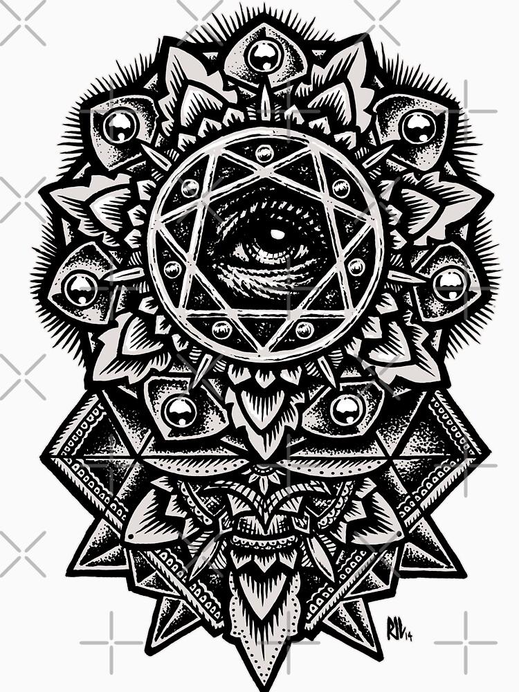 Auge Gottes Blume Mandala von RobertoJL