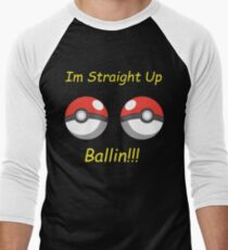 Pokemon Ballin Men's Baseball ¾ T-Shirt
