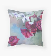 peonies and eucalyptus Throw Pillow