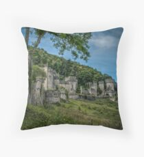Gwrych Castle Throw pillow and Tote bag Collection 3  Throw Pillow