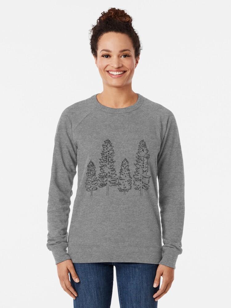 Alternate view of Pine Trees  Lightweight Sweatshirt
