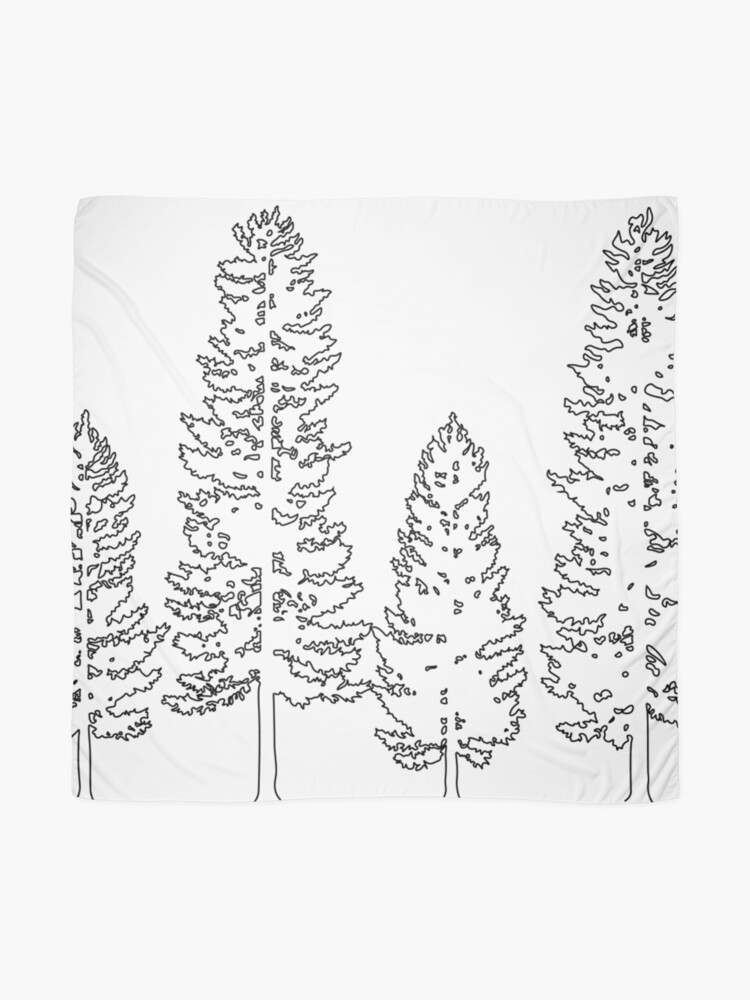 Alternate view of Pine Trees  Scarf