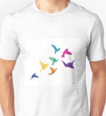 Origami Birds flying print Unisex T-Shirt