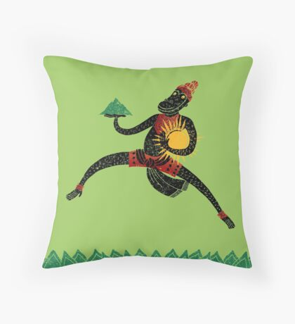 Hanuman's Leap Throw Pillow