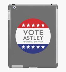 Vote Astley iPad Case/Skin