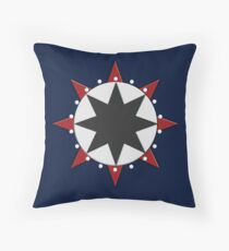 Nautical Star Disc by Leslie Harlow Throw Pillow