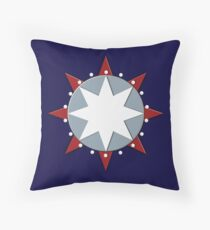 Star Disc by Leslie Harlow Throw Pillow