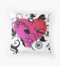 Heart and Elements by Leslie Harlow Throw Pillow