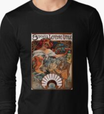 'Biscuits Lefevre-Utile' by Alphonse Mucha (Reproduction) T-Shirt