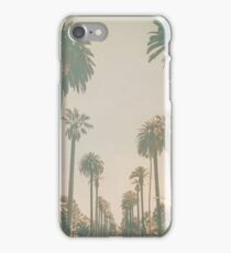 Beverly Hills Palm Drive Texture California iPhone Case/Skin