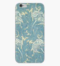 William Morris Tulip Dekostoff in Blau iPhone-Hülle & Cover