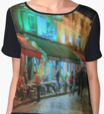 Paris Night Women's Chiffon Top