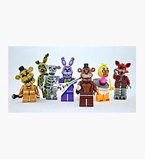 Lego FNAF Animatronics Photographic Print