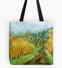 Oregon Vineyard Acrylic Painting Tote Bag