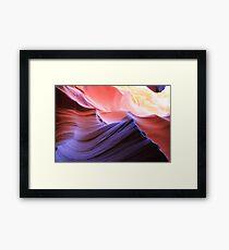 coloured rocks Framed Print