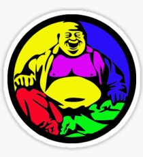 Rainbow Buddha Sticker