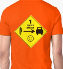 Safety First for Cyclists (AU, UK) Unisex T-Shirt