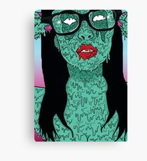 Grime Urban Pin Up Girl Canvas Print