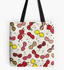 Oh, I'm Mad About Cheeky Cherries Pattern Tote Bag
