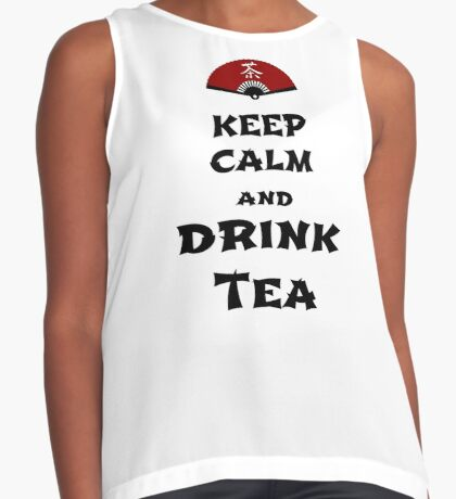 keep calm and drink tea Contrast Tank