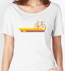 Fixie Retro Stripes Women's Relaxed Fit T-Shirt