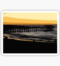 Henley jetty at dusk Sticker