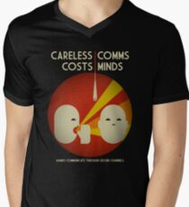 Ingress : Careless Comms Men's V-Neck T-Shirt