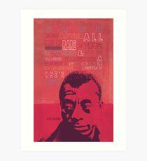 Lámina artística Cartel de la cita de James Baldwin