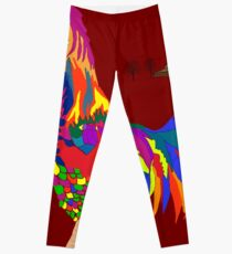 Colorful Rooster  Leggings