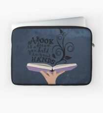 A book is a dream you hold in your hands  Laptop Sleeve