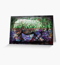 Rhino Greeting Card