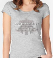 Who is this Rorschach guy and why does he paint so many pictures of my parents fighting?  Women's Fitted Scoop T-Shirt