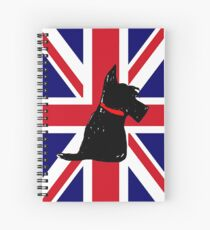 Scottie Dog Union Jack Spiral Notebook
