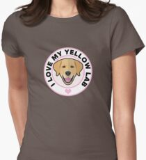 Love My Yellow Lab Womens Fitted T-Shirt