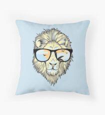 Lion in Paradise Throw Pillow