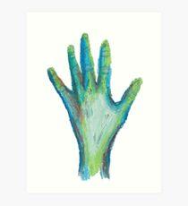 Zombie Hand Art Print