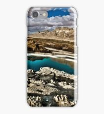 Water pools in sink holes on the shore of the Dead Sea, Israel iPhone Case/Skin