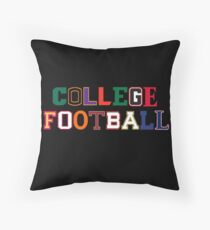 College Football Letters Throw Pillow