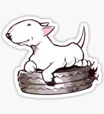Bull Terrier On Board Funny Sticker